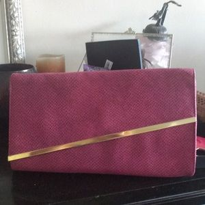 Pink and gold clutch-brand new
